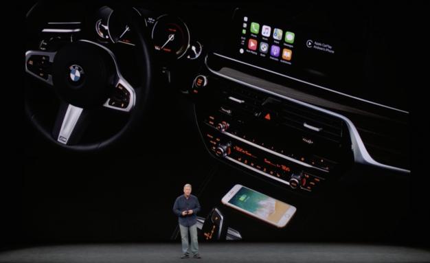 Ricarica wireless in auto per iPhone 8