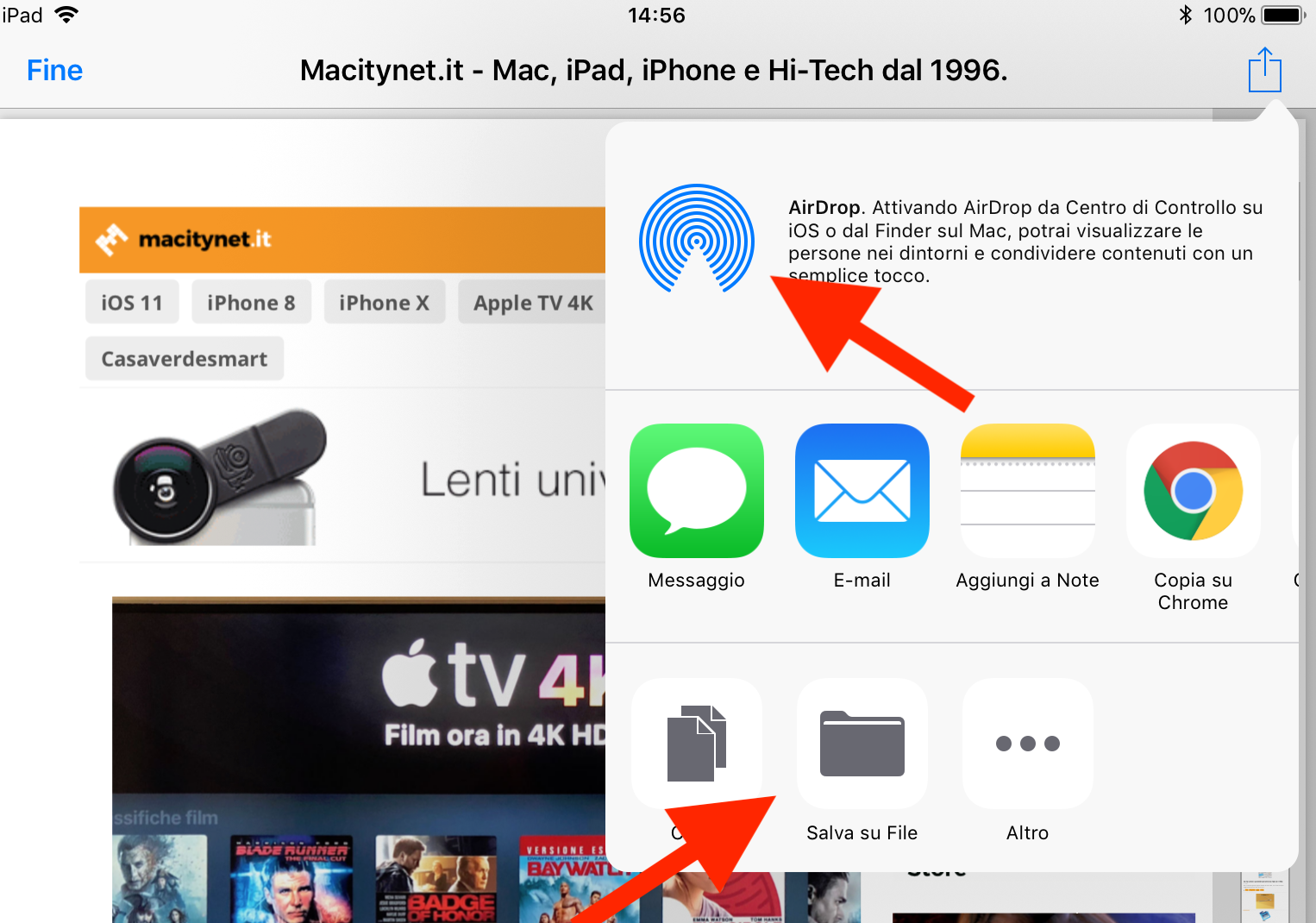 salvare un PDF da iPhone