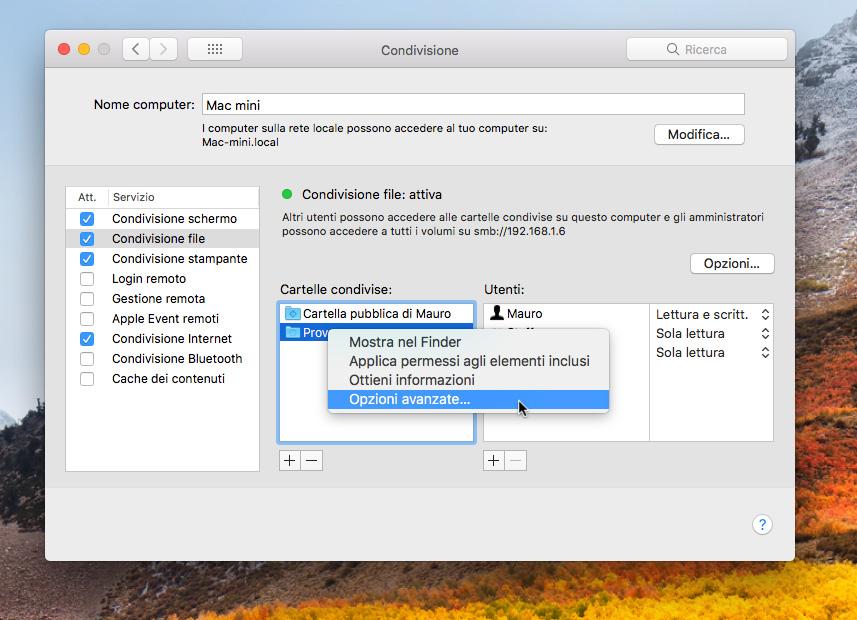 back up Time Machine su un altro Mac