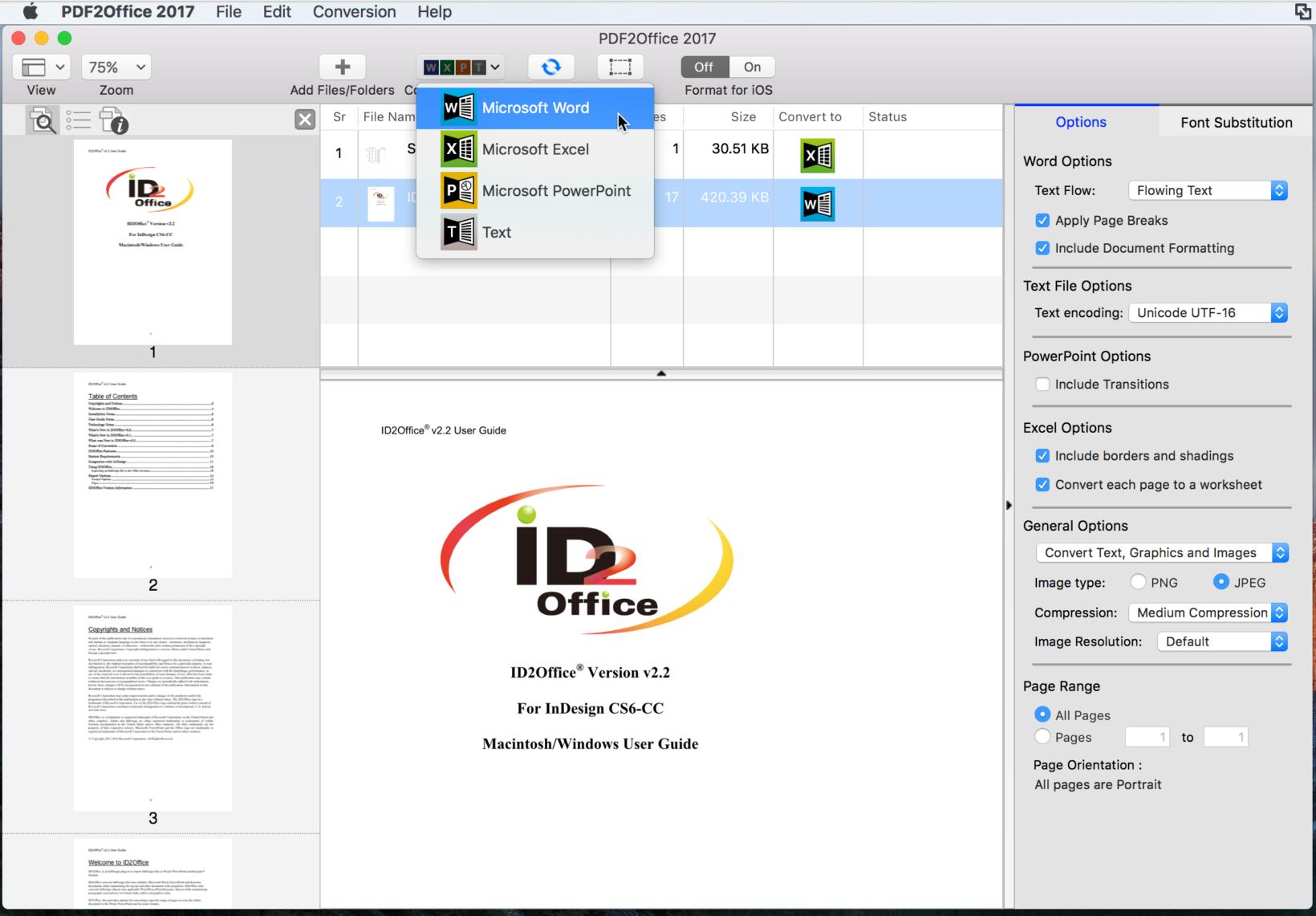convertire PDF in documenti Office