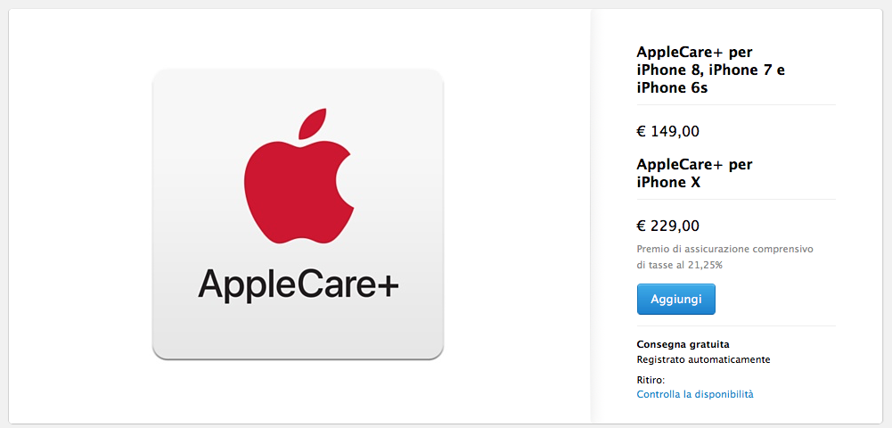 AppleCare+ iPhone X