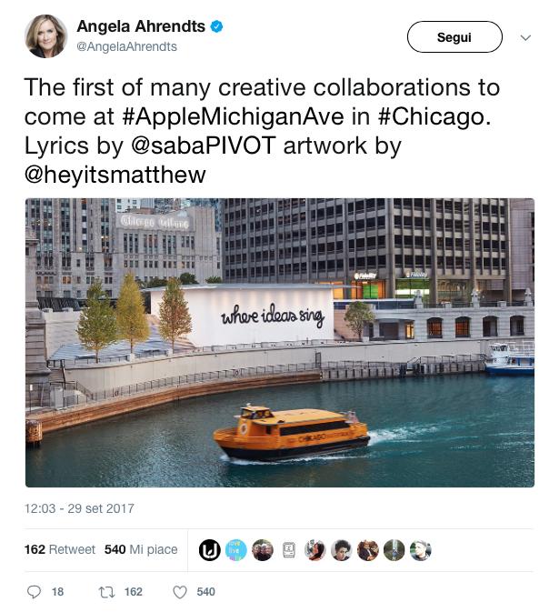 Apple Store di Michigan Avenue Chicago Angela Ahrendts