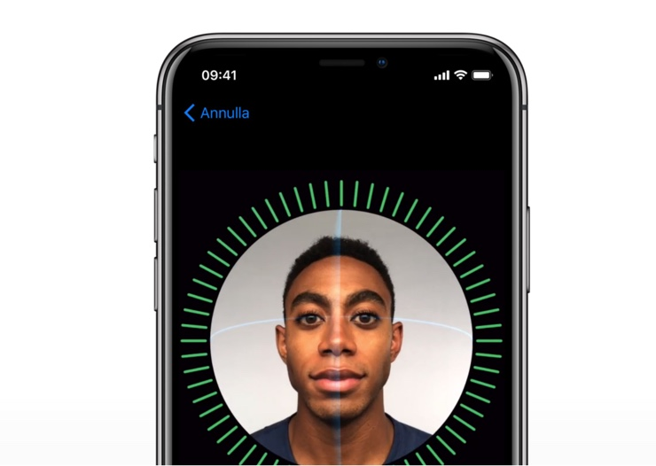 face ID icon 740