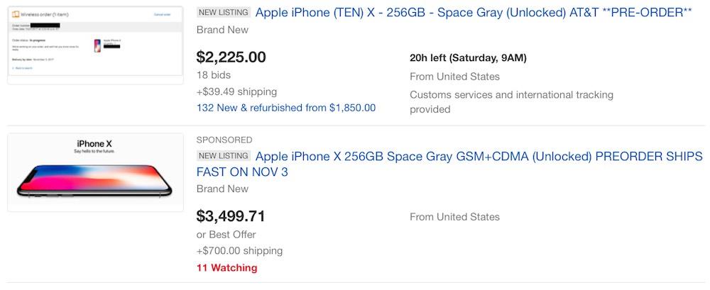 spedizioni iphone x ebay prezzi folli