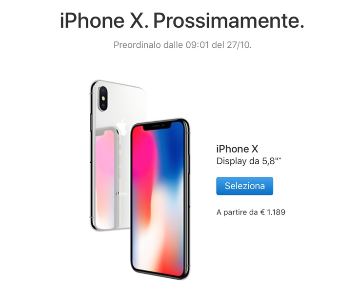 iPhone X. Prossimamente