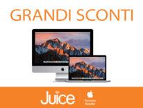 Da Juice prezzi mai visti, risparmi fino a 800 euro su MacBook Pro e fino a 500 euro su iMac 27″ 5K