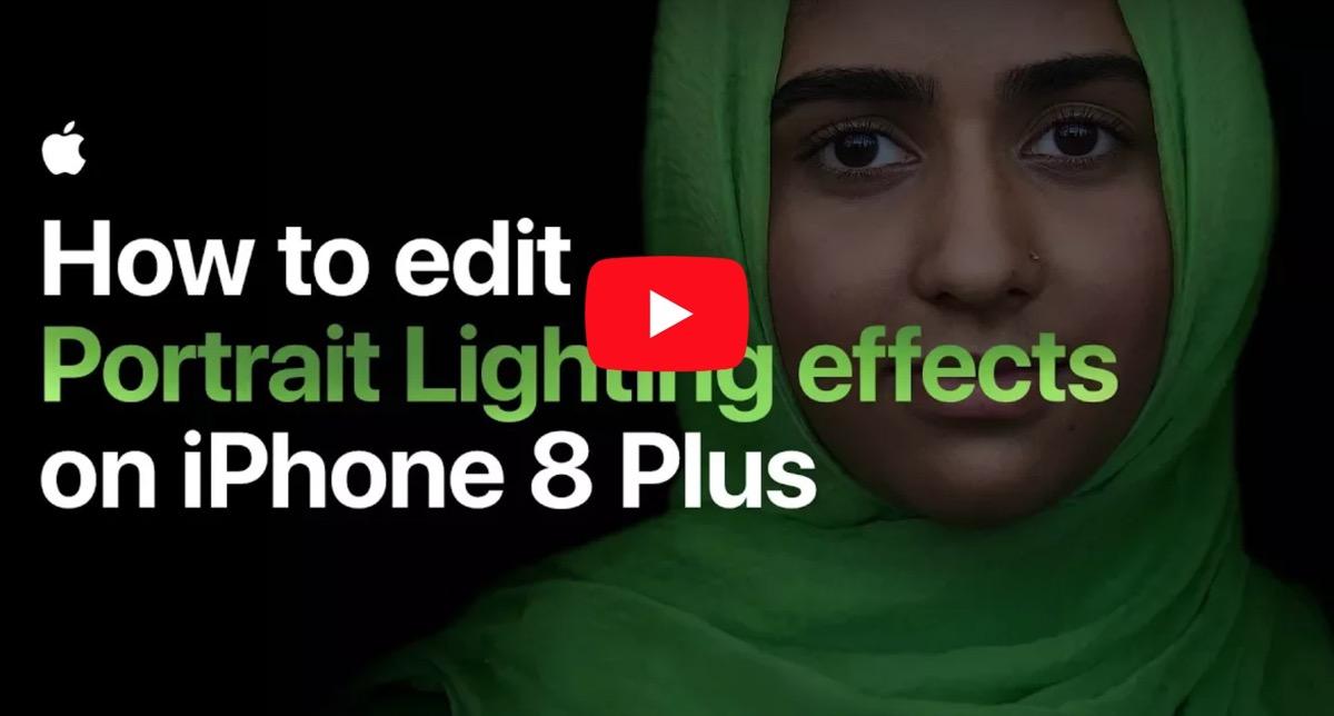 video illuminazione ritratto