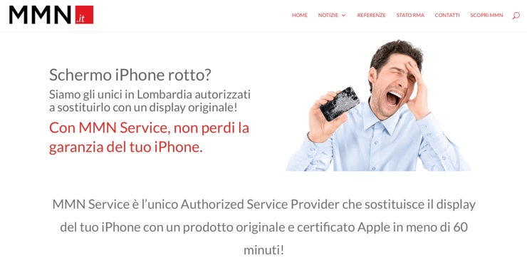 schermo iphone rotto mmn service 3
