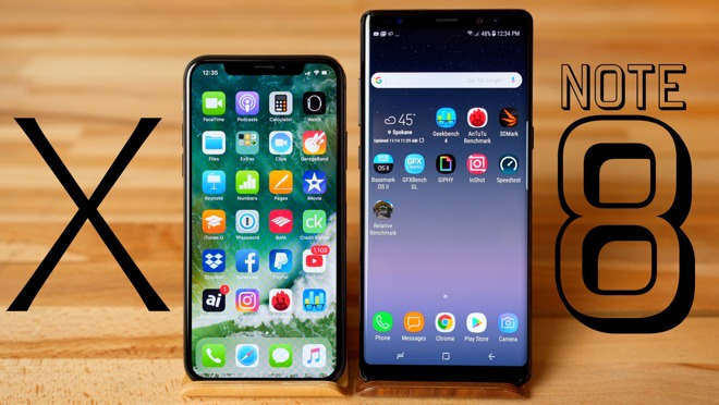 iPhone X contro Galaxy Note 8