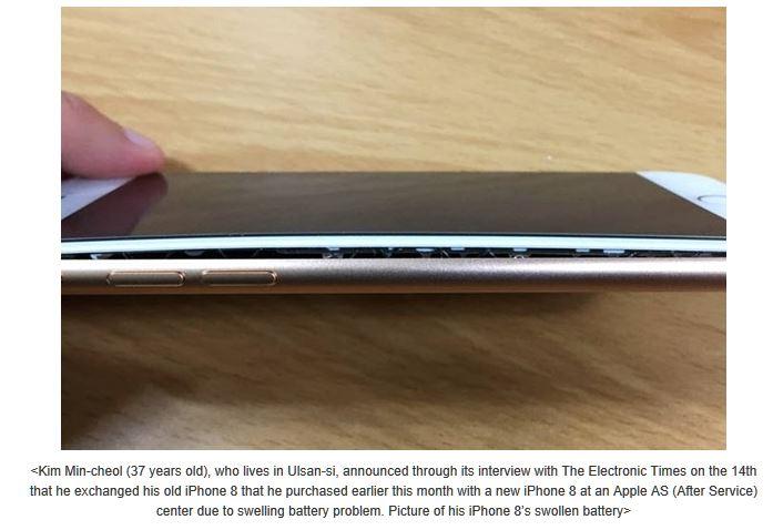 iPhone 8 con problemi alla batteria