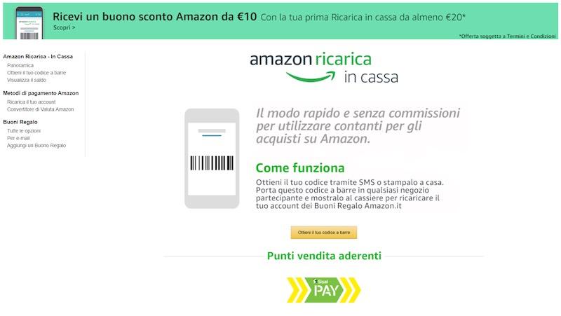 Amazon Ricarica in Cassa 6