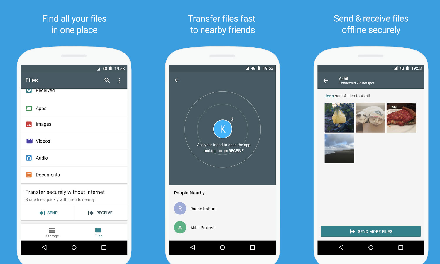 app google File Go per Android, simile ad Apple AirDrop