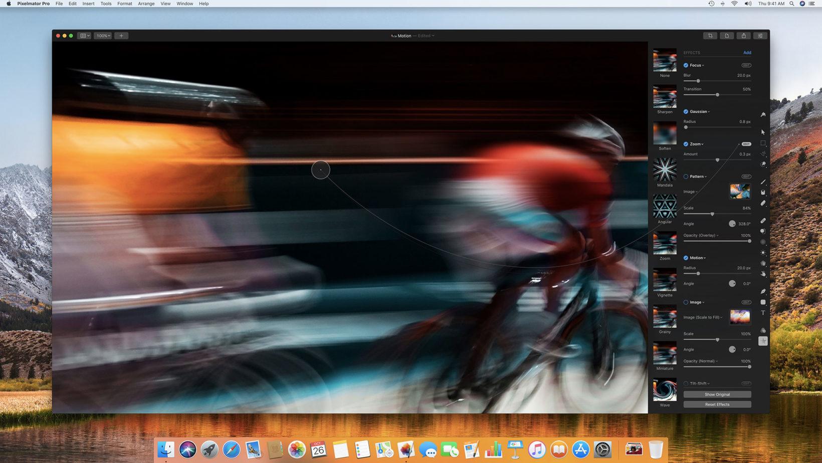 Esempio effetti in Pixelmator migliori software per Mac del 2017