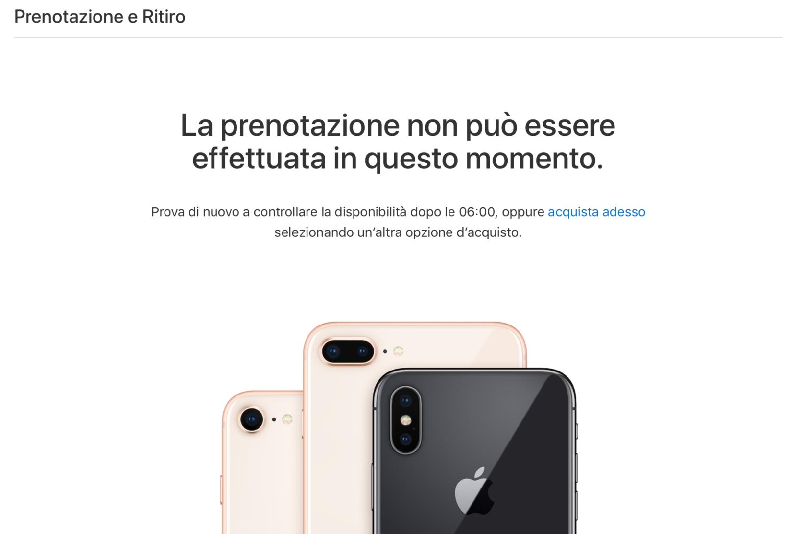 controllare disponibilità iphone X