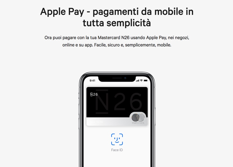 apple pay in italia n26
