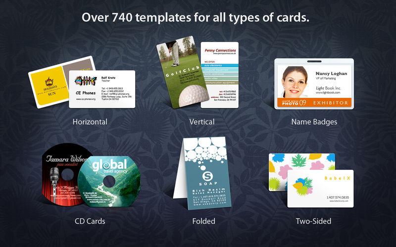 business card composer mac