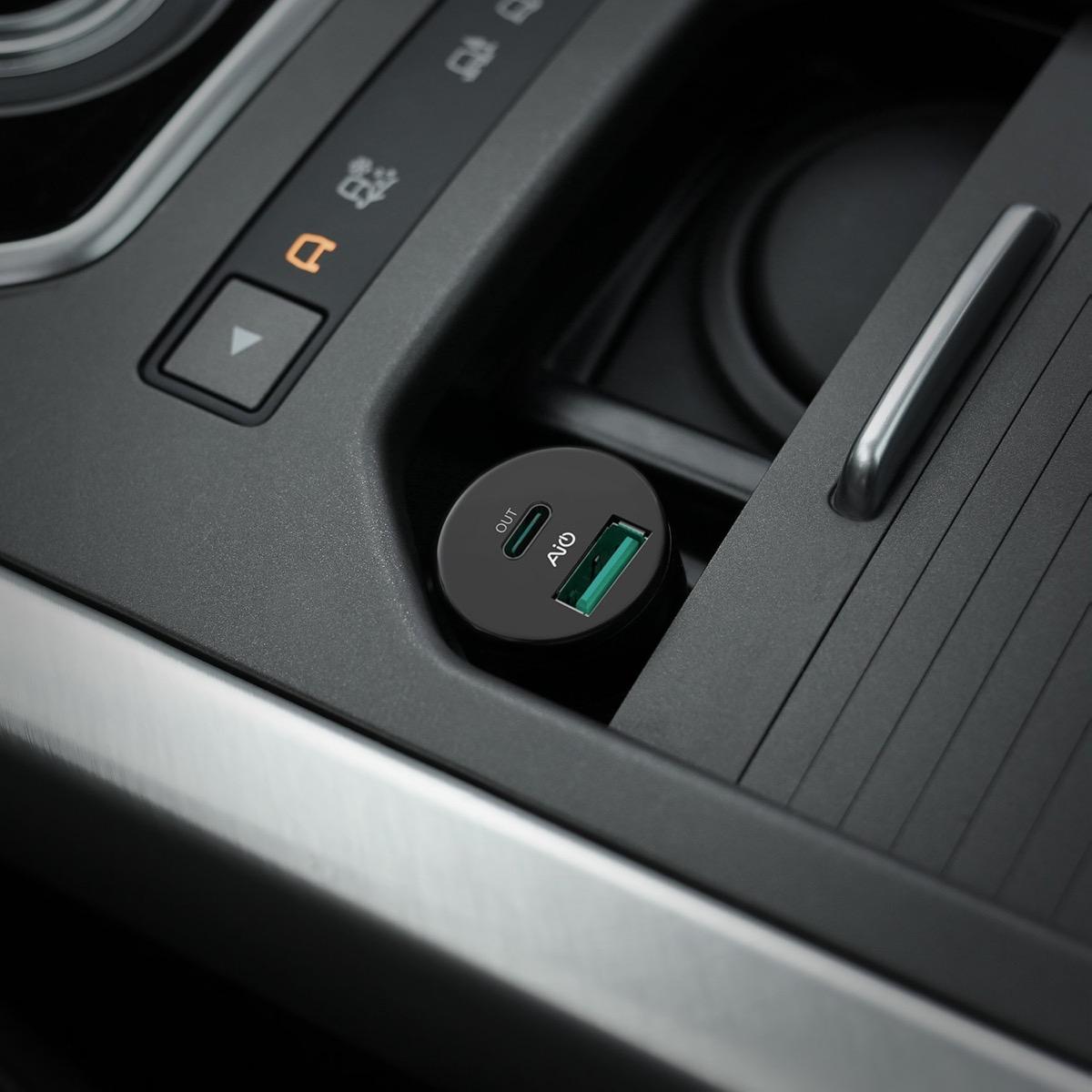 caricabatterie da audo Type-c