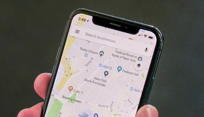 google maps iphone x