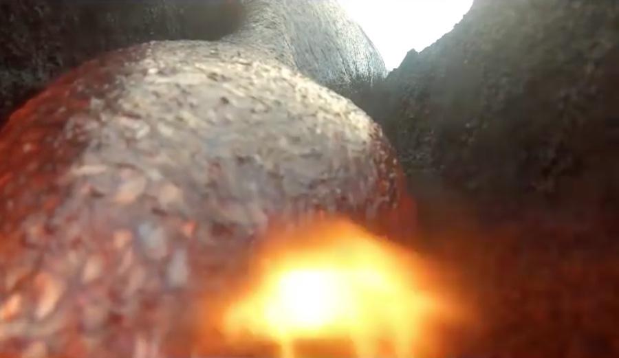 gopro nella lava