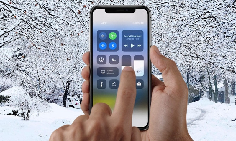 iPhone X freddo