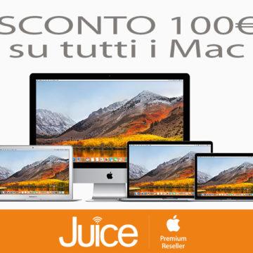 juice sconto100 euro tutti i mac