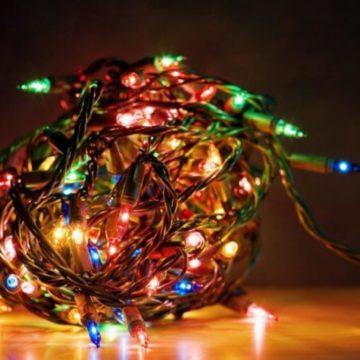 migliori luci natalizie nella catena di luci