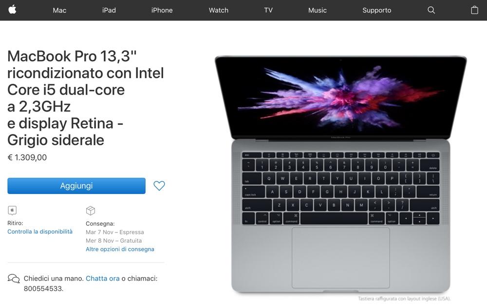 mac in sconto macbook pro 13