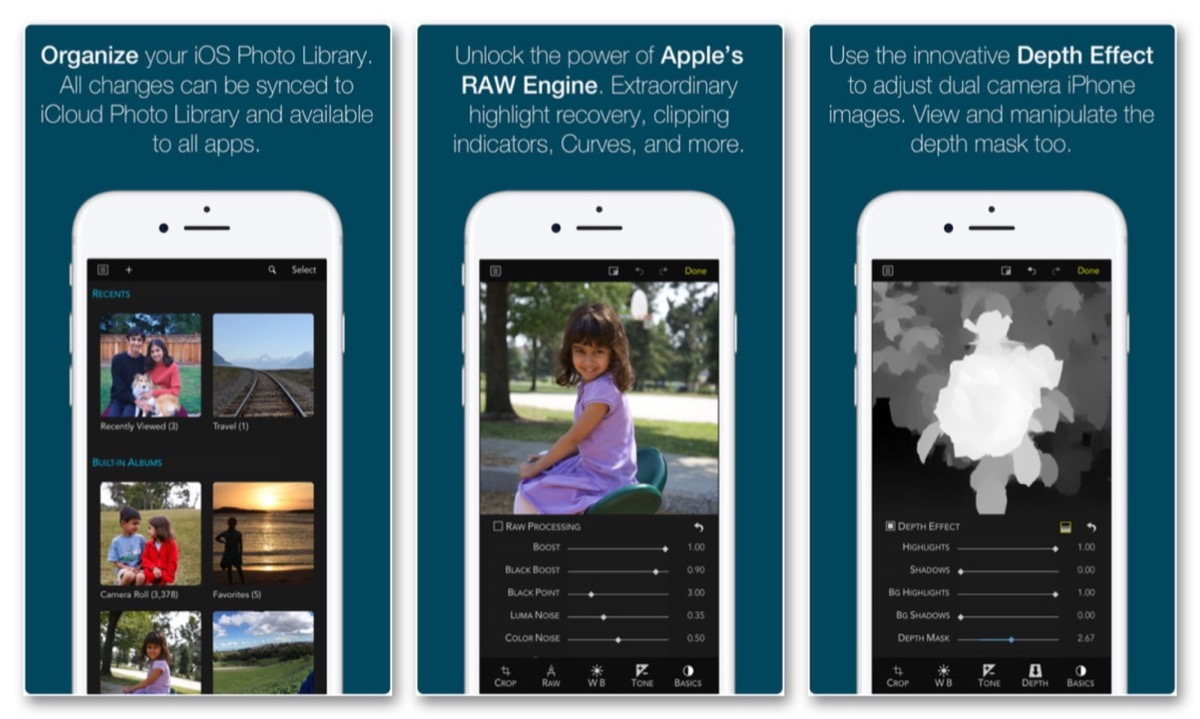 Modificare i file RAW su iPhone con raw power