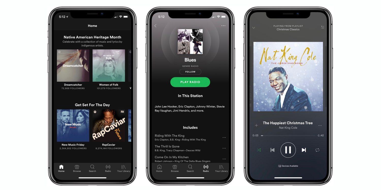 migliori app musicali per iPhone - SPOTIFY