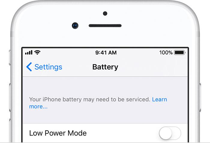 """Il messaggio """"La batteria di iPhone potrebbe richiedere assistenza tecnica"""" su iOS"""
