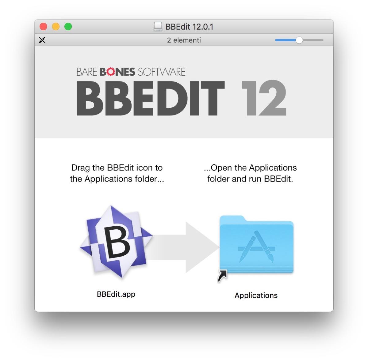 storico editor di testo BBEdit 12