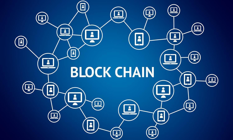 Blockchain, foto schema astratto blockchain