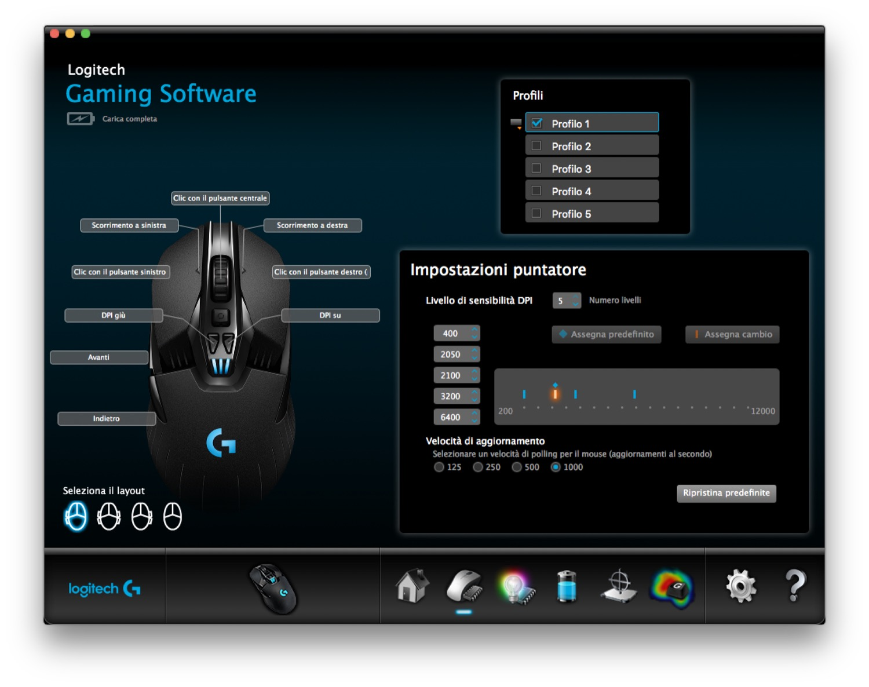 Logitech G903 Miglior mouse Mac
