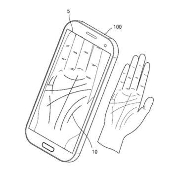 Brevetto smartphone che legge palmo della mano