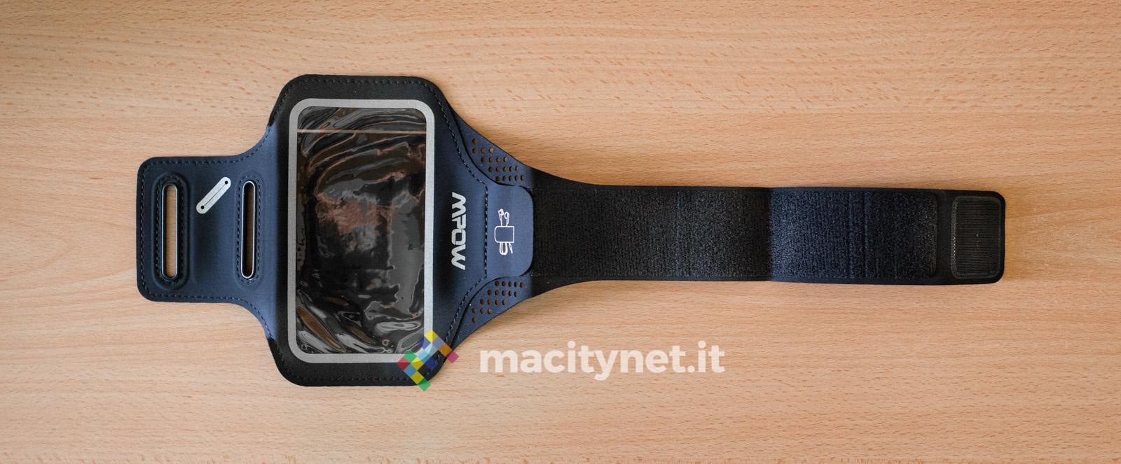 Recensione fascia da braccio per smartphone di Mpow