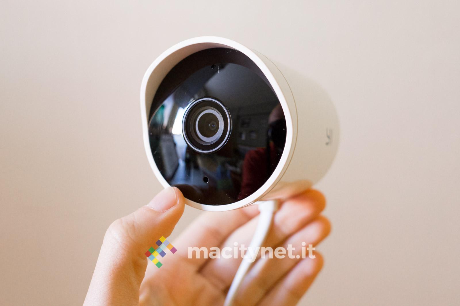 Plafoniera Da Esterno Con Telecamera : Recensione yi outdoor camera la telecamera di sicurezza per