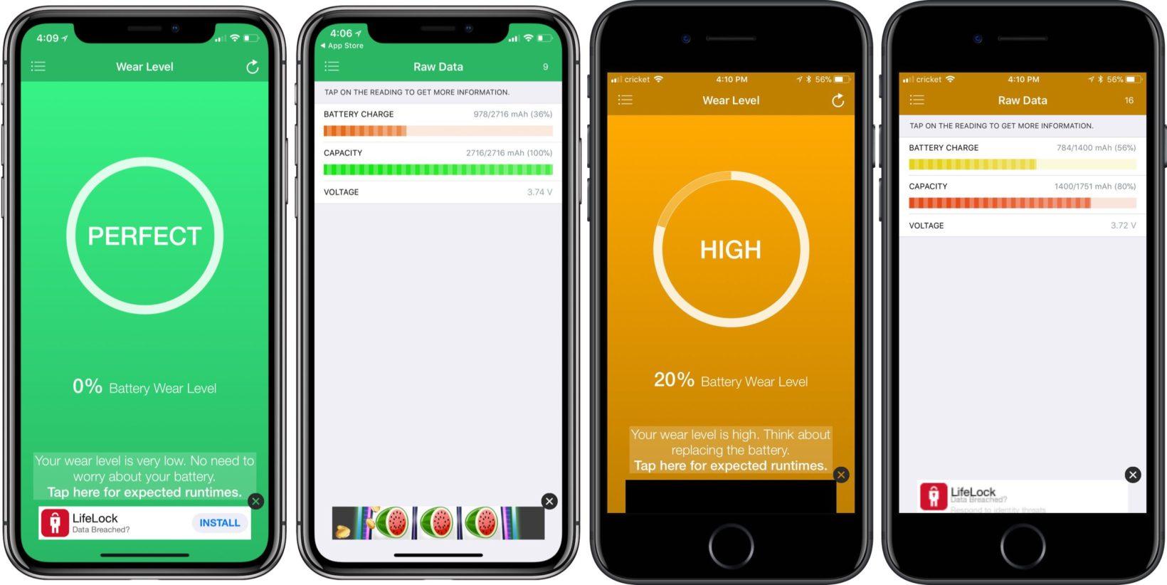 batteria iphone - foto controllare lo stato batteria con una app