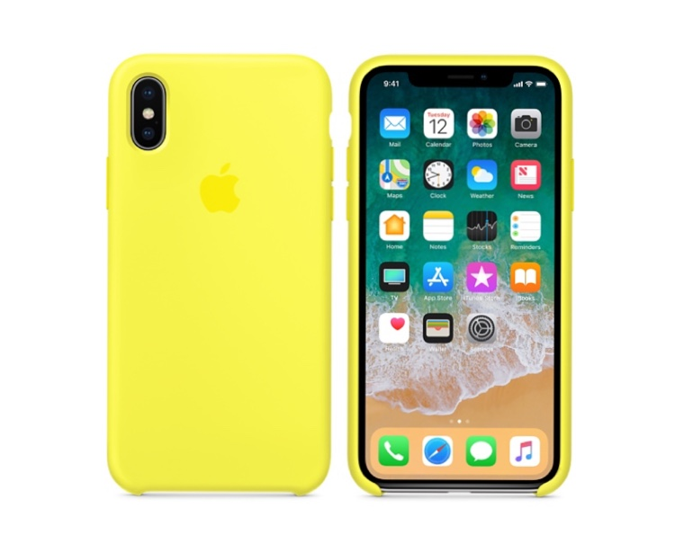 Custodia in silicone per iPhone XS - Arancione papaya - Apple (IT)