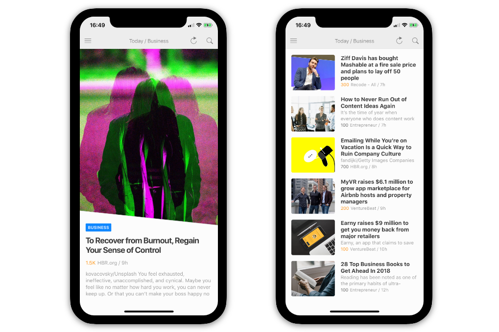 feedly per iphone x