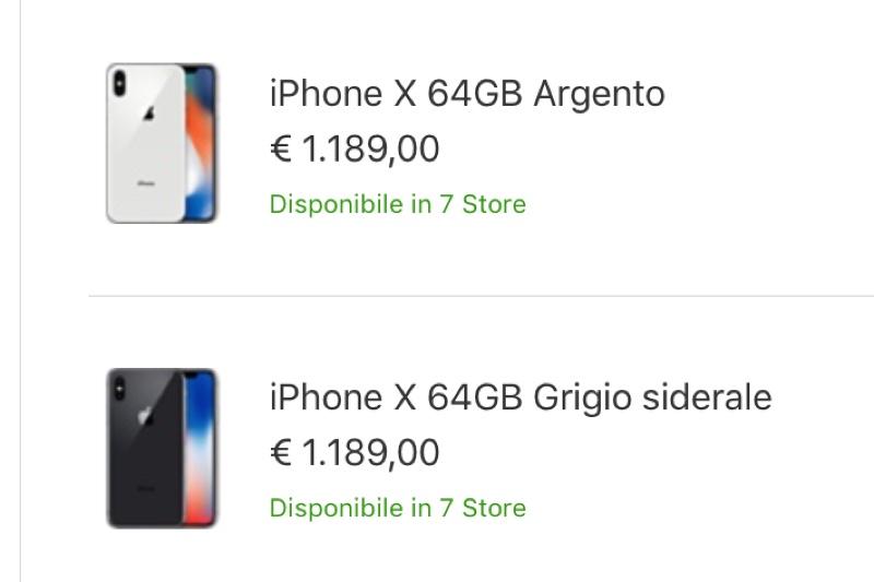 iphone x disponibile 2