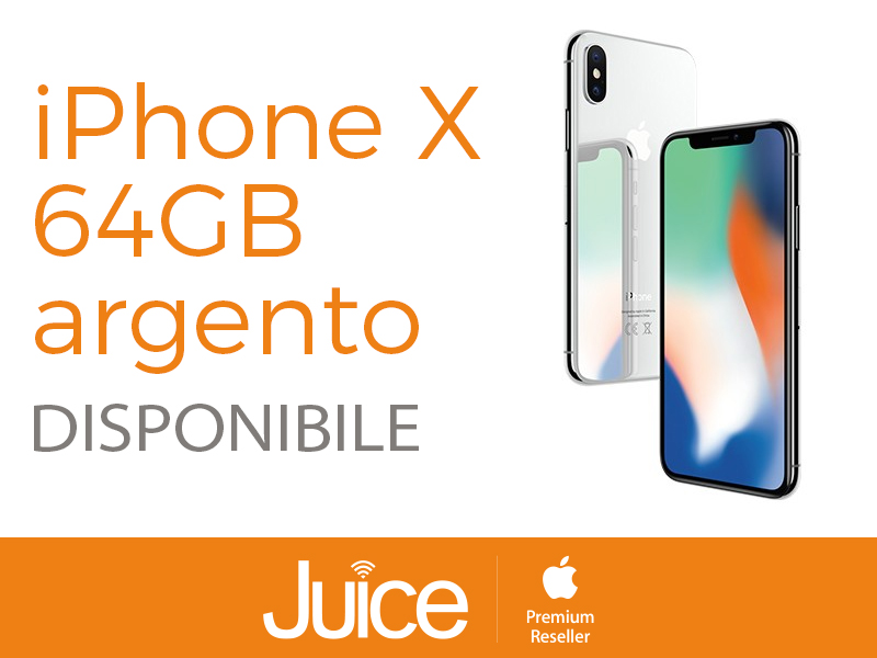 juice iPhone X 64GB ARGENTO