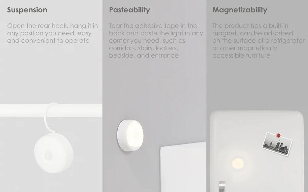 Luce notturna Xiaomi Yeelight: foto sensibile e autonomia da 120 giorni, a soli 10 euro