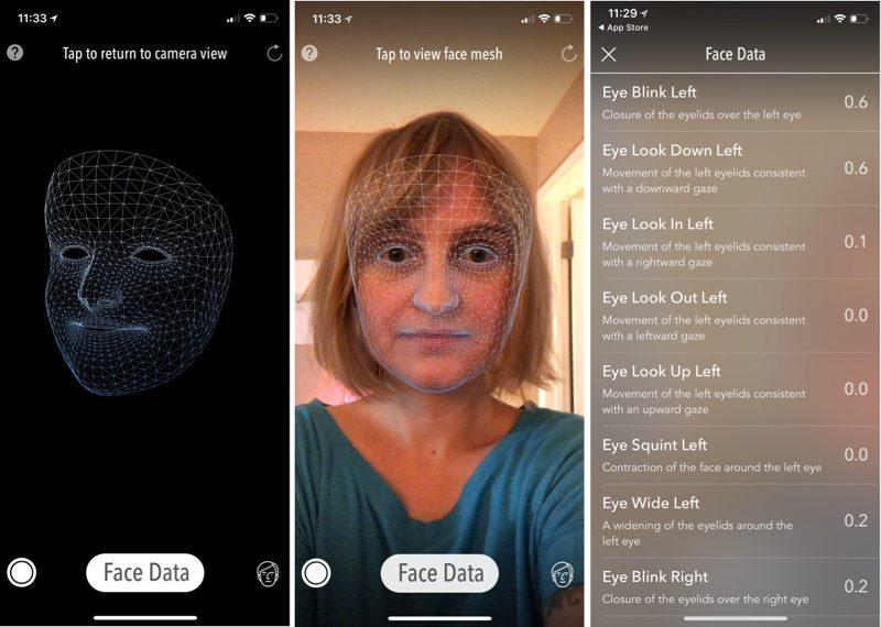 truedepth iPhone X in funzione nell'app Measurekit