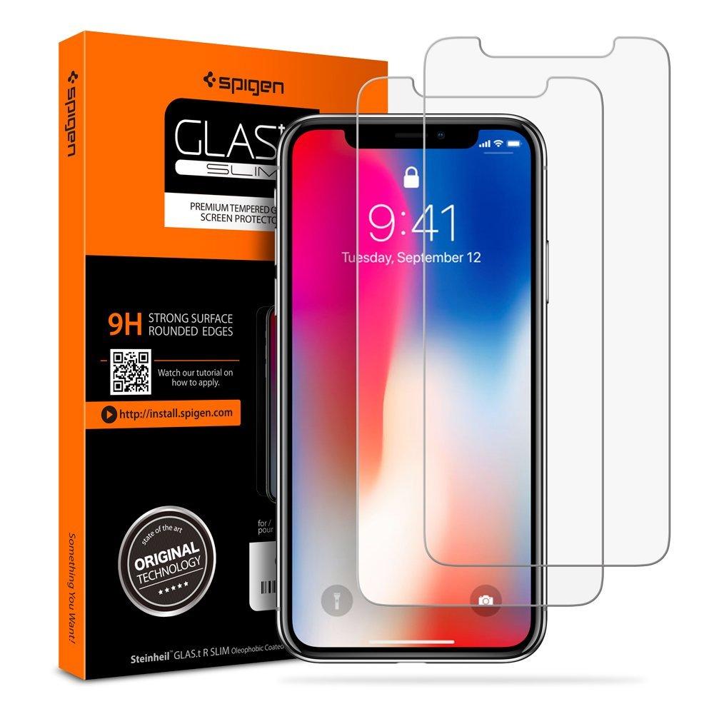 proteggere lo schermo di iPhone X - pellicole Spigen