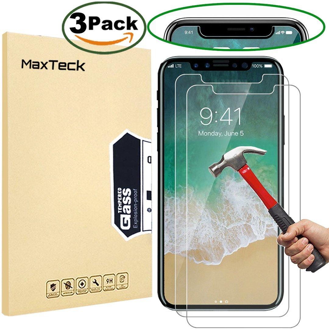 proteggere lo schermo di iPhone X - pellicole MaxTeck