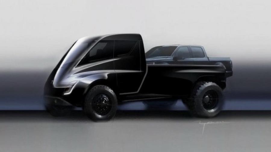 pick-up Tesla elettrico 2