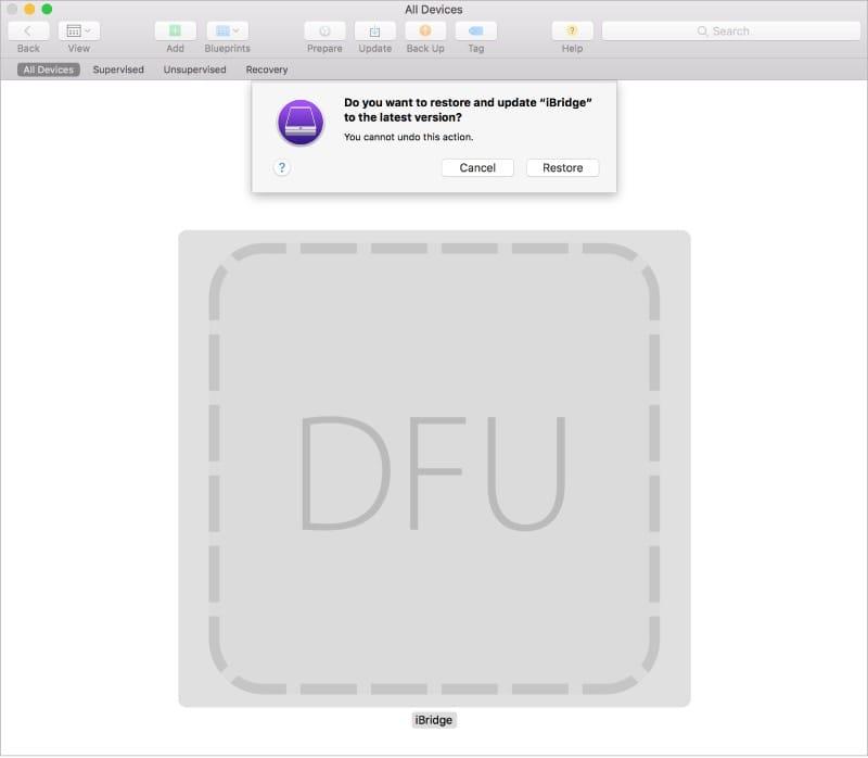 Ripristino iMac Pro