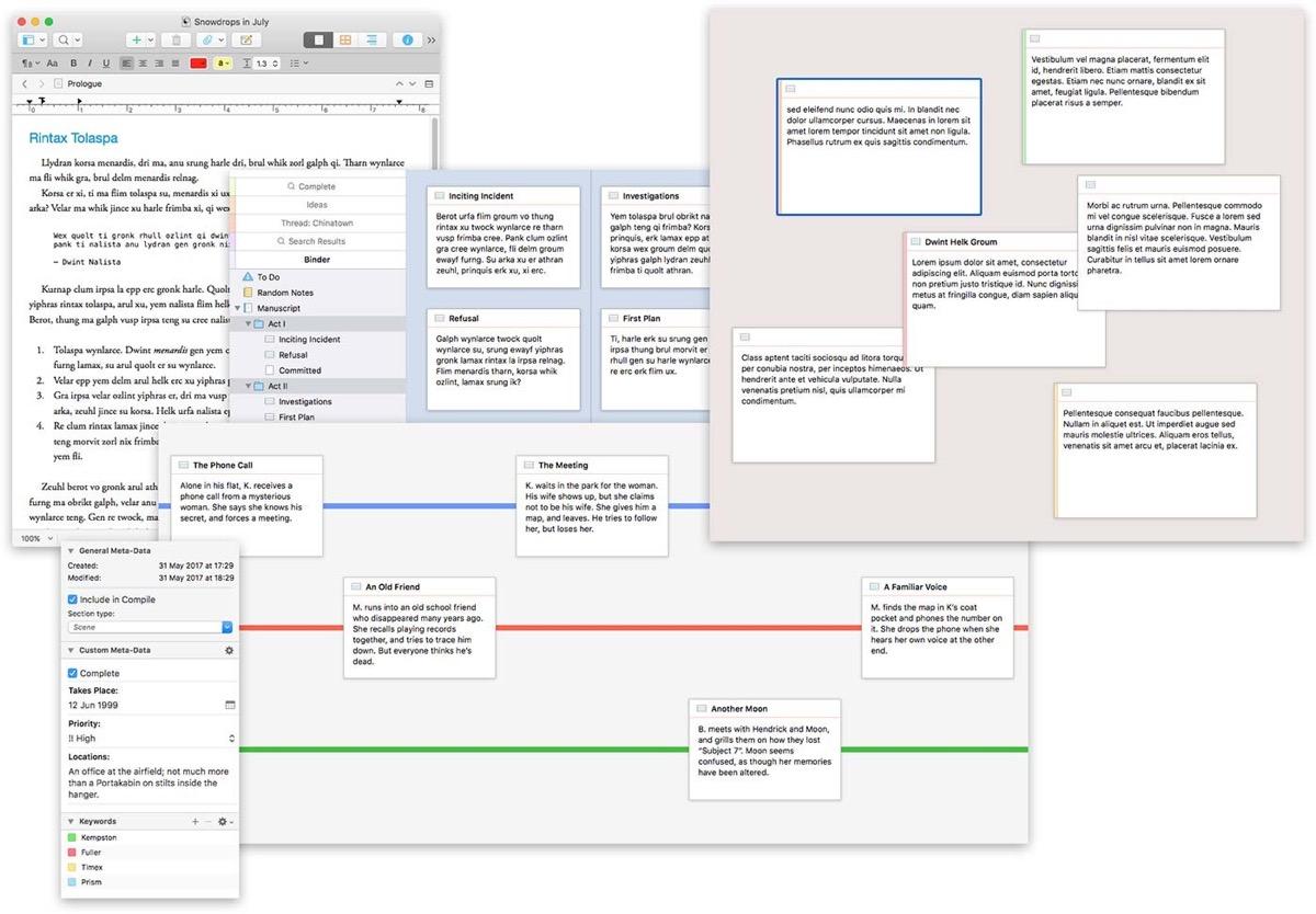 Schemi Elettrici Per Mac : Recensione scrivener il word processor mac per scrittori