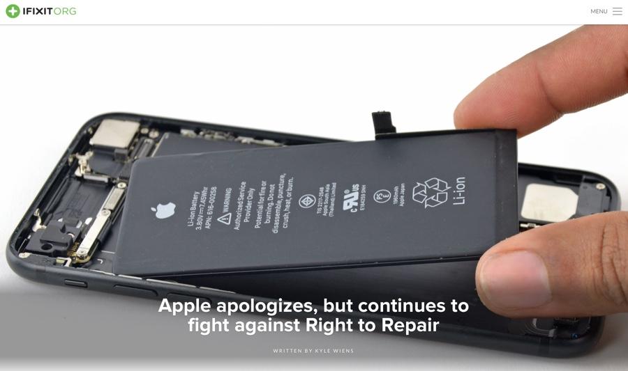 ifixit sostituire la batteria di iPhone