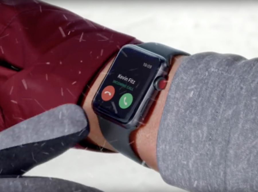 spot apple watch 3 lte natale 2017